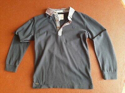 Boys Jasper Conran smart jumper dark  blue with shirt collar age 8-9 years