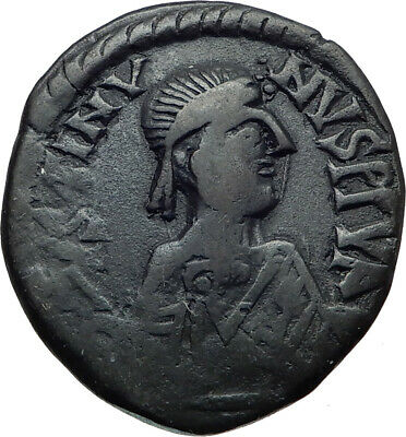 Justin I 518AD Big Authentic  Ancient Medieval Byzantine Coin Large M  i44498