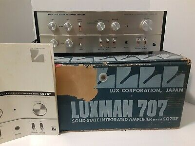 Vintage Luxman SQ-707 in Original box Solid State Stereo Integrated Amplifier