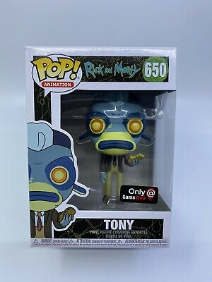 Funko Pop! Animation Tony Game Stop Exclusive 650 Rick and Morty Vinyl Figure