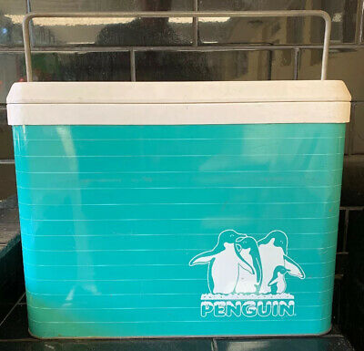 PENGUIN COOLER by WILLOW Vintage 1960's Metal Esky Portable Ice Cooler