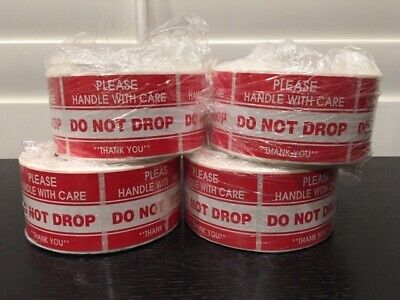 """2000 2x3"""" **Please Handle With Care--DO NOT DROP** Sticker (4-Rolls 500 Labels)"""