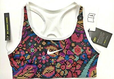 Girls NIKE SPORTS BRA Age 10 - 12 Pink Mix Medium Support - Reversible New BNWT