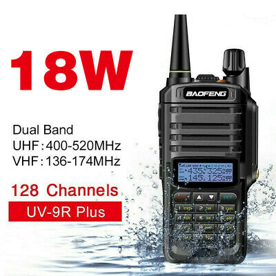 UV-9R Plus Baofeng 15W VHF UHF Walkie Talkie Dual Band Two-Way Radio Work Tool