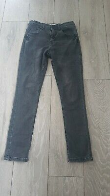 Primark Denim & Co Faded Black Skinny Jeans Waist Adjusters Age 13-14 Years