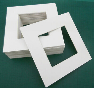CLEARANCE: 25 Pack Artists matting board. Bulk lot. 215x215mm for 12cm picture.