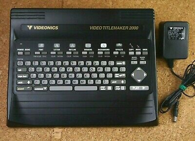 VIDEONICS  Video TitleMaker TM 2000P PAL  (europian) version