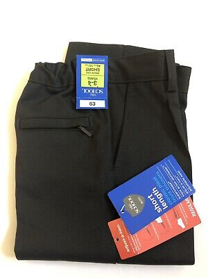BOYS BLACK SCHOOL TROUSERS BY M&S MARKS & SPENCER AGE 3-4 YEARS SHORT brand new