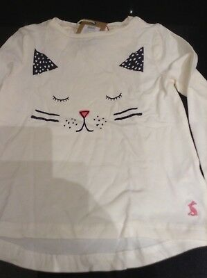 JOULES JUNIOR STARLIGHT CREAM CAT PYJAMAS 2 PART SET. AGE 5 to 6. NEW WITH TAG.