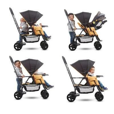 Sit & Stand Stroller Infant Toddler Double Kids Tandem Safety w/Car Seat Adapter