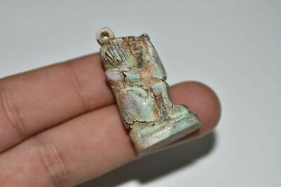 RARE ANCIENT EGYPTIAN blue faience Baboon amulet late period 672-332 bc