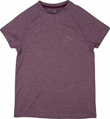 More Mile Junior Running Top Purple Short Sleeve Sports T-Shirt Girls Ages 7-16