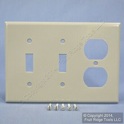 Leviton Gray Combo Switch Receptacle Outlet Cover Wallplate Switchplate 87021