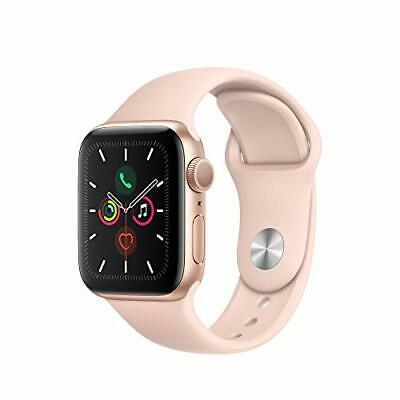 BRAND NEW SEAL Apple Watch Series 5 GPS 40MM Gold Aluminum Case Pink Sport Band