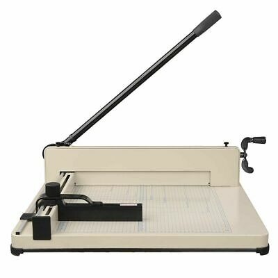 "17"" Commercial Heavy Duty Paper Cutter 400 Sheet Desktop Metal Base Book Trimmer"