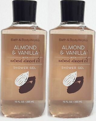 2 Bath & Body Works ALMOND & VANILLA Shower Gel Body Wash