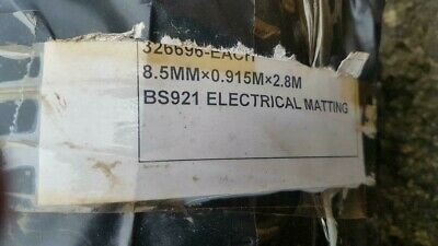 electrical matting ribbed 8.5mm thick by 915mm wide 2.8mts long
