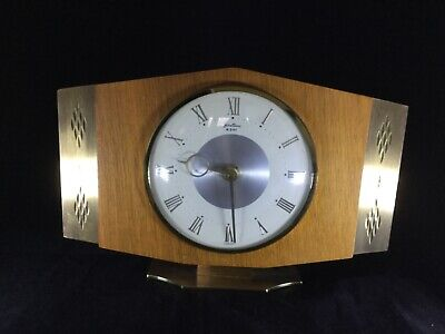 Mantel/Mantle Clock - Bentima Vintage 50's/60's - Brass/Wood - French Mechanism