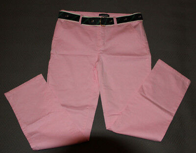 Ralph Lauren Pink Cotton Skinny Chinos Jeans Girls 14Y  Petite Women Bnwot