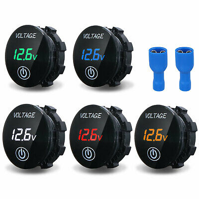 Digital LED Display Voltmeter Touch Voltage Gauge Panel Meter For Car Motorbike