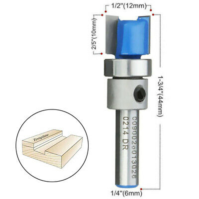 Straight Flute Flush Trim Pattern Router Bits Cutter Top Bearing Woodworking