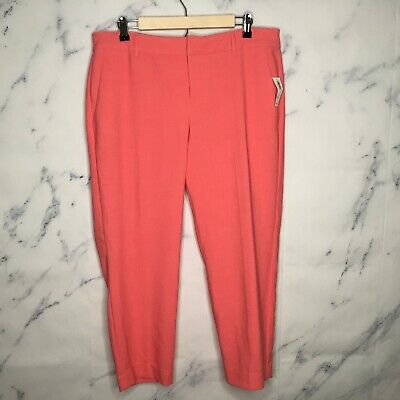 New Old Navy Dress Pants Size 12 Womens Pink Harper Mid Rise Cropped Career U44