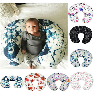 Minky Nursing Newborn U Shape Baby Breastfeeding Pillow Cover Nursing Slipcover