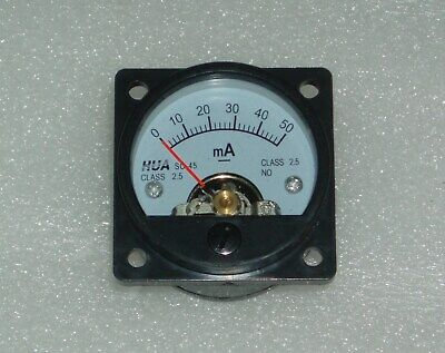Analog Panel Meter DC 0-50mA AMMETER SO-45