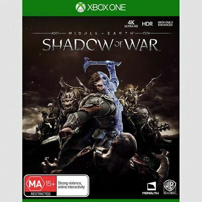 MIddle of Earth Shadow of War Xbox One Game USED