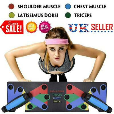 9in1 Push-up Rack Board Stands Fitness Workout System Gym Muscle Train Exercise
