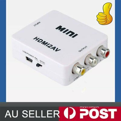 HDMI to AV Converter Output Digital to RCA Analog Audio/Video Input Composite by
