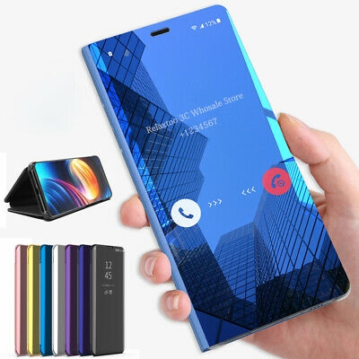 Mirror View Smart Flip Stand Case Cover For Samsung Note 10 S9 8 Plus S7 Edge