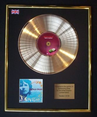James Blunt Back To Bedlam Cd Gold Disc Record Free P&P