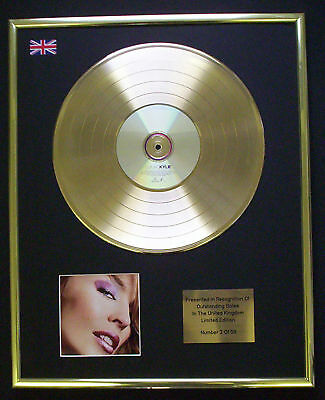 Kylie Ultimate Kylie Cd Gold Disc Record Lp  Free P&P!