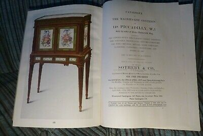 Sotheby & Co. Catalogue Magnificent Contents of 148 Piccadilly Victor Rothschild