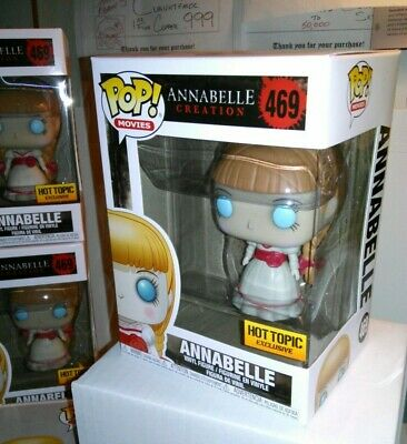 Funko Pop! *FREE EcoTEK* Movies ANNABELLE Creation #469 Hot Topic Exclusive