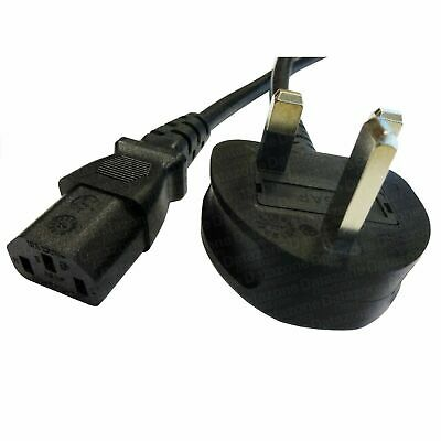 0.75m UK Mains - IEC C13 Female Cable 3 Pin Plug Kettle PC TV Monitor Lead 5AMP