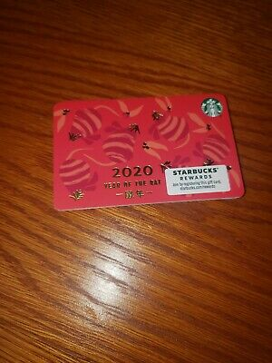 Starbucks Year Of The Rat Chinese New Year 2020 Gift Card, Unused, Mint! #6176