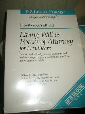 E-Z Legal Forms Do it Yourself Kit Living Will & Power of Attorney