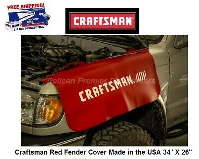 """Craftsman Red Fender Cover Made in the USA 34"""" X 26"""" CMMT14184"""