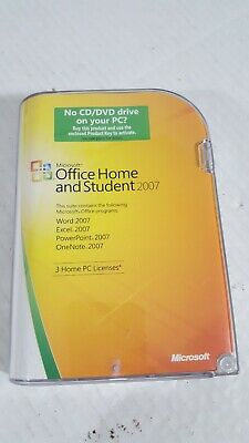 Microsoft Office Home and Student 2007 (3-User) *B43