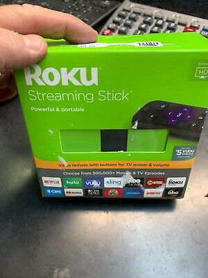New Roku Streaming Stick (6th Generation) 3800RW 1080p HD