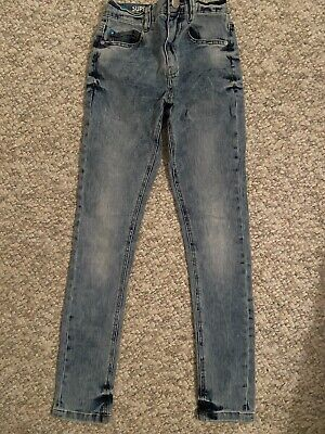 Next Boys Super Skinny Faded Jeans Ex Condition Age 11
