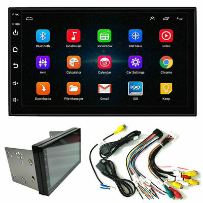US  7'' Double 2 DIN Android 9.1 Car Stereo FM Radio GPS Navigation Head Unit