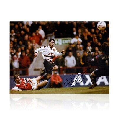 RYAN GIGGS FRAMED SIGNED 16X20 MANHESTER UNITED 1999 FA CUP SEMI PHOTO PROOF