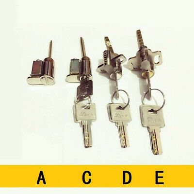 New Sliding Glass Door Lock Key Cylinder Solid Brass or Zinc Core With 3 Keys