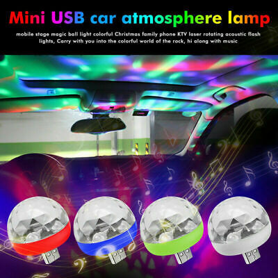 USB Mini RGB LED Disco Stage Light Party Club DJ KTV Xmas Decor Phone Ball Lamp