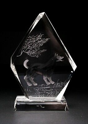Art Glass Crystal Paperweight Would Dog Desk Office Decoration