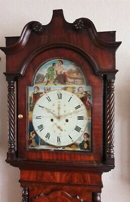 An impressive Georgian Mahogany & Inlaid Longcase Grandfather Clock C1820-40