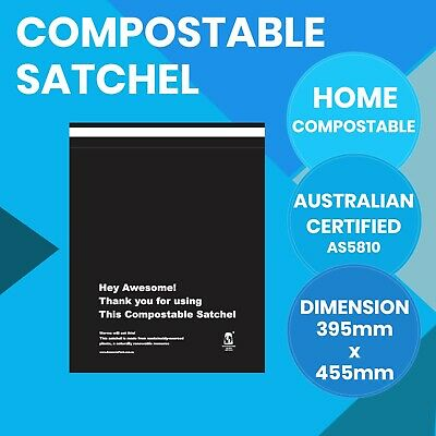Compostable Satchels 360mm x 415mm Courier Bags Biodegradable Mailer 20 Pack